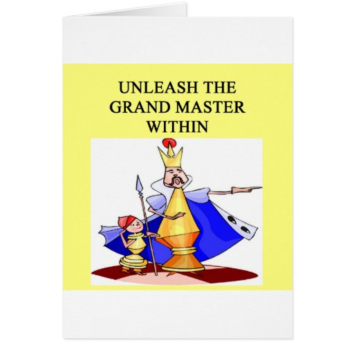 CHESS player grand master Greeting Card