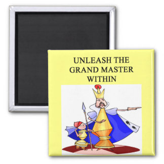 CHESS player grand master Square Magnet
