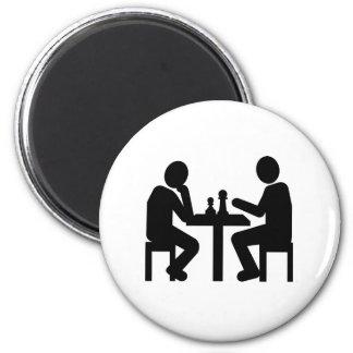 Chess player fridge magnets