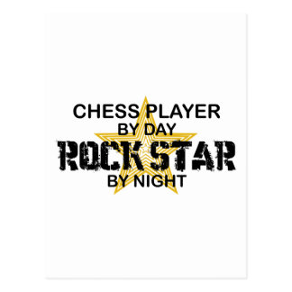 Chess Player Rock Star by Night Postcard