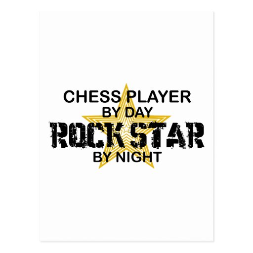 Chess Player Rock Star by Night Post Cards