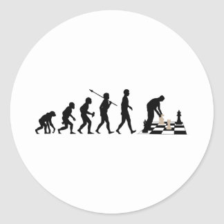 Chess Player Round Sticker