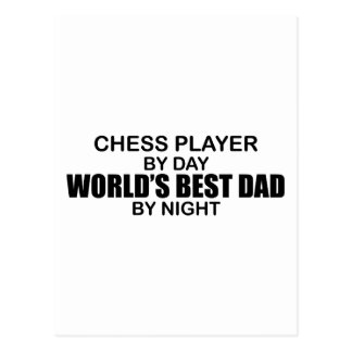Chess Player World's Best Dad by Night Postcard