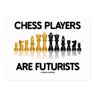 Chess Players Are Futurists (Reflective Chess Set) Postcard