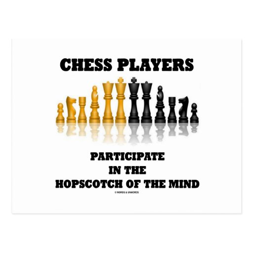 Chess Players Participate In The Hopscotch Of Mind Post Cards