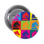 Chess Pop Art Pinback Buttons