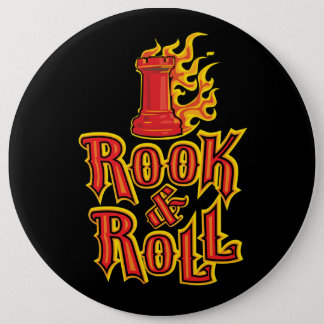 Chess Rook & Roll 6 Cm Round Badge