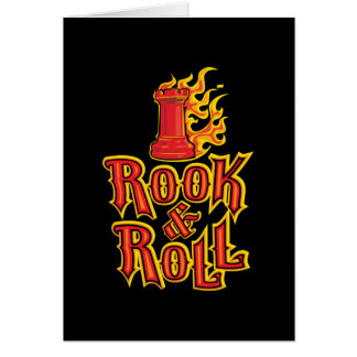 Chess Rook & Roll Greeting Card