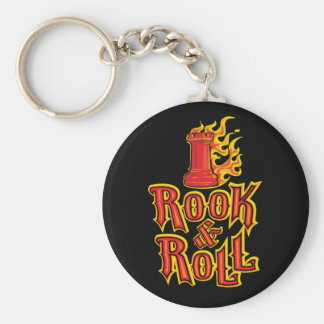 Chess Rook & Roll Key Ring