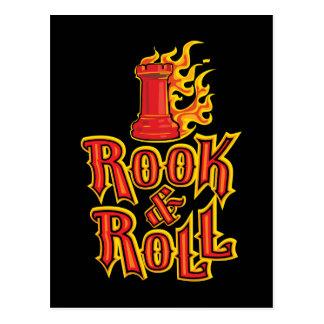 Chess Rook & Roll Postcard