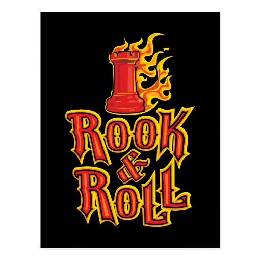 Chess Rook & Roll Post Cards
