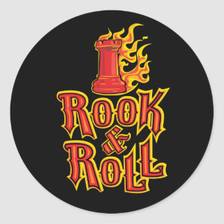 Chess Rook Roll Round Stickers