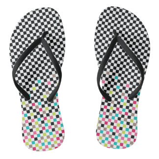 Chess seamless pattern flip flops