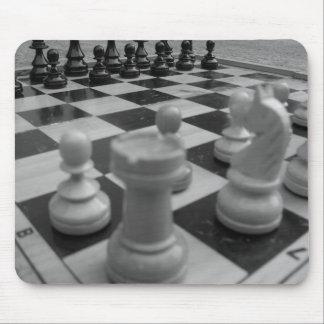 Chess set B&W Mouse Mat