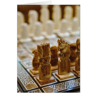 Chess set for sale, Khan el Khalili Bazaar, Card