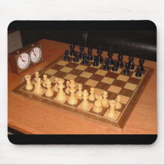 Chess set mouse mat