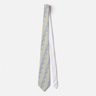 Chess Shiny Blue Glass Chess Pawn Tie