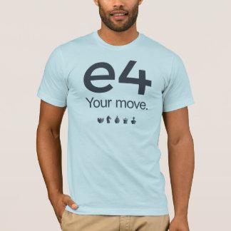 Chess Shirt: e4 T-Shirt