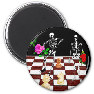 Chess Skeletons Magnets