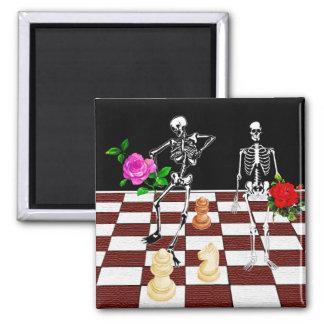 Chess Skeletons Magnet