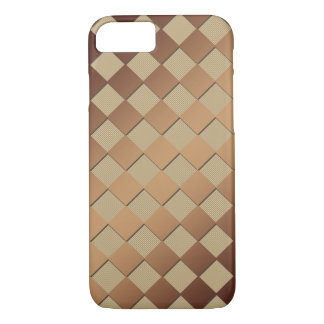 Chess Square Golden Brown iPhone 8/7 Case