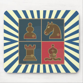 Chess Squares Mouse Pad