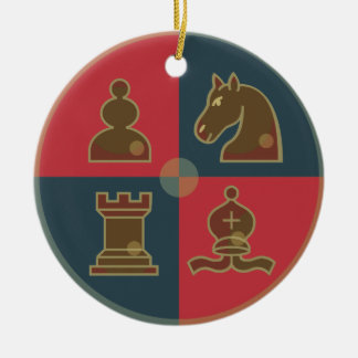 Chess Squares Round Ornament