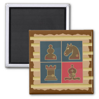 Chess Squares Square Magnet