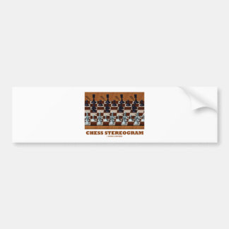 Chess Stereogram (Chess Pieces 3-D) Bumper Sticker