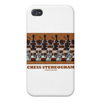 Chess Stereogram (Chess Pieces 3-D) Case For iPhone 4