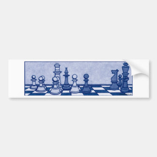 Chess Study in Blue Bumper Sticker