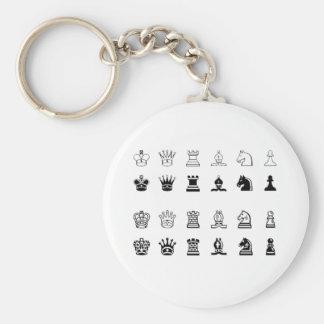 Chess symbols key ring