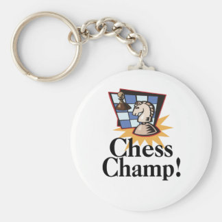 Chess T-shirts and Gifts. Basic Round Button Key Ring