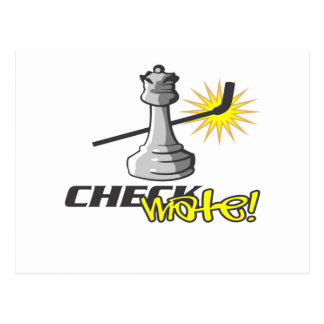 Chess T-shirts and Gifts. Postcard