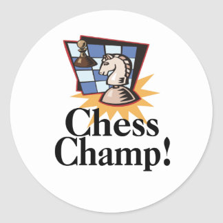 Chess T-shirts and Gifts. Round Sticker