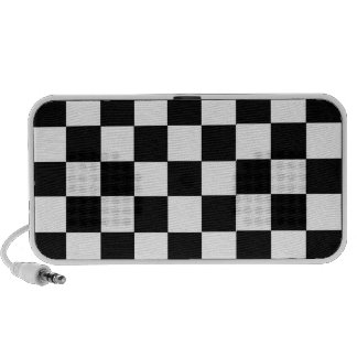 chess table square white black iPod speakers