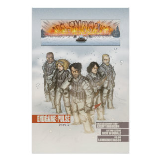 Chess Team Comic Book Art Poster