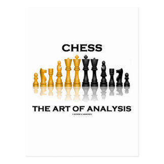 Chess The Art Of Analysis Postcard
