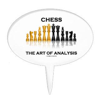 Chess The Art Of Analysis (Reflective Chess Set) Cake Picks