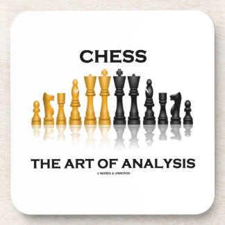 Chess The Art Of Analysis (Reflective Chess Set) Coasters
