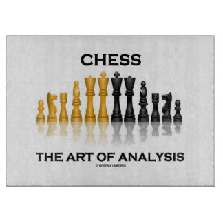 Chess The Art Of Analysis (Reflective Chess Set) Cutting Board
