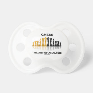 Chess The Art Of Analysis (Reflective Chess Set) Baby Pacifier