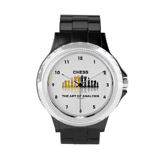Chess The Art Of Analysis (Reflective Chess Set) Wristwatches