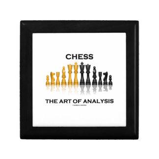 Chess The Art Of Analysis (Reflective Chess Set) Keepsake Boxes