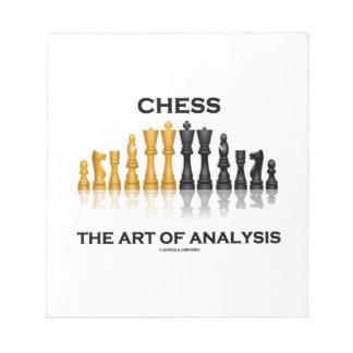 Chess The Art Of Analysis Reflective Chess Set Memo Note Pad