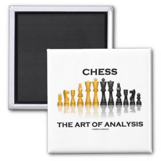 Chess The Art Of Analysis Square Magnet