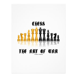 Chess The Art Of War (Gothic Font) 21.5 Cm X 28 Cm Flyer