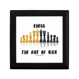 Chess The Art Of War (Gothic Font) Keepsake Boxes