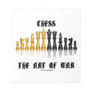 Chess The Art Of War Gothic Font Memo Notepads