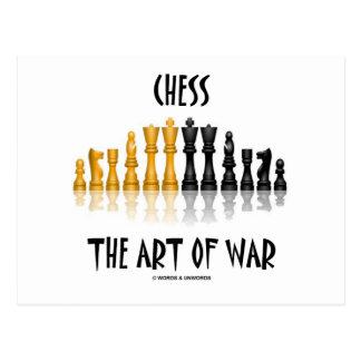 Chess The Art Of War (Matisse Font) Postcard